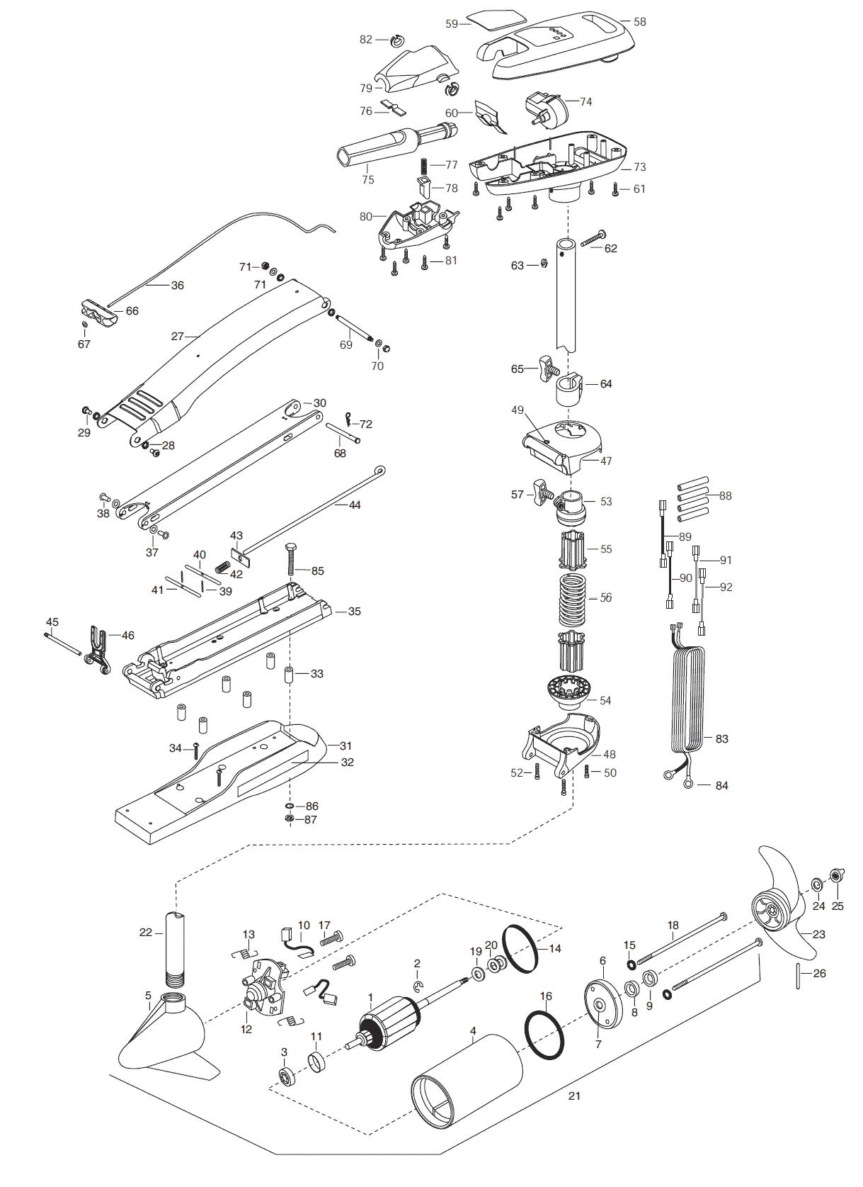Minn Kota Riptide 55 Sc B 52 Inch Parts