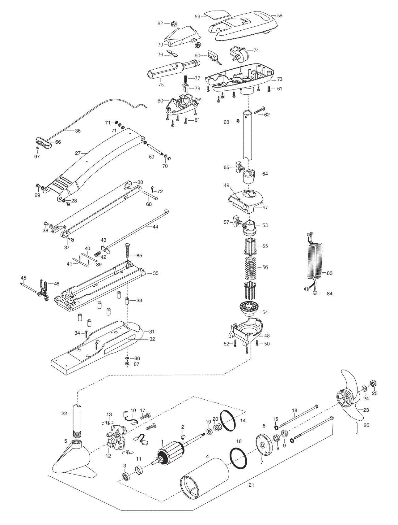 Minn Kota Riptide 65 Sc Parts