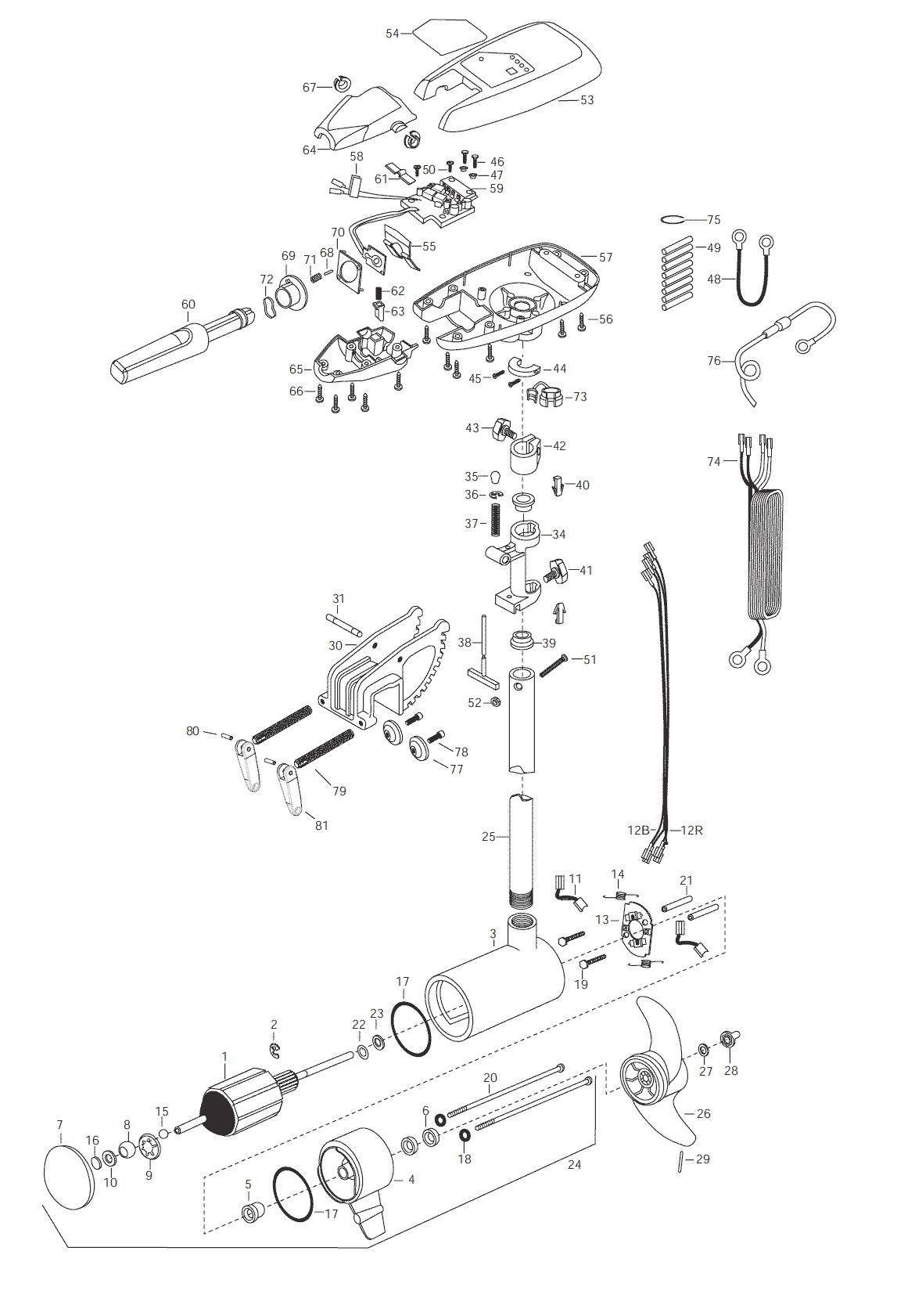Minn Kota Riptide 74 S Parts