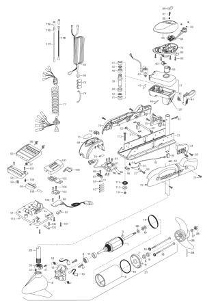 Minn Kota Riptide AutoPilot 65 (54 inch) Parts  2003 from FISH307