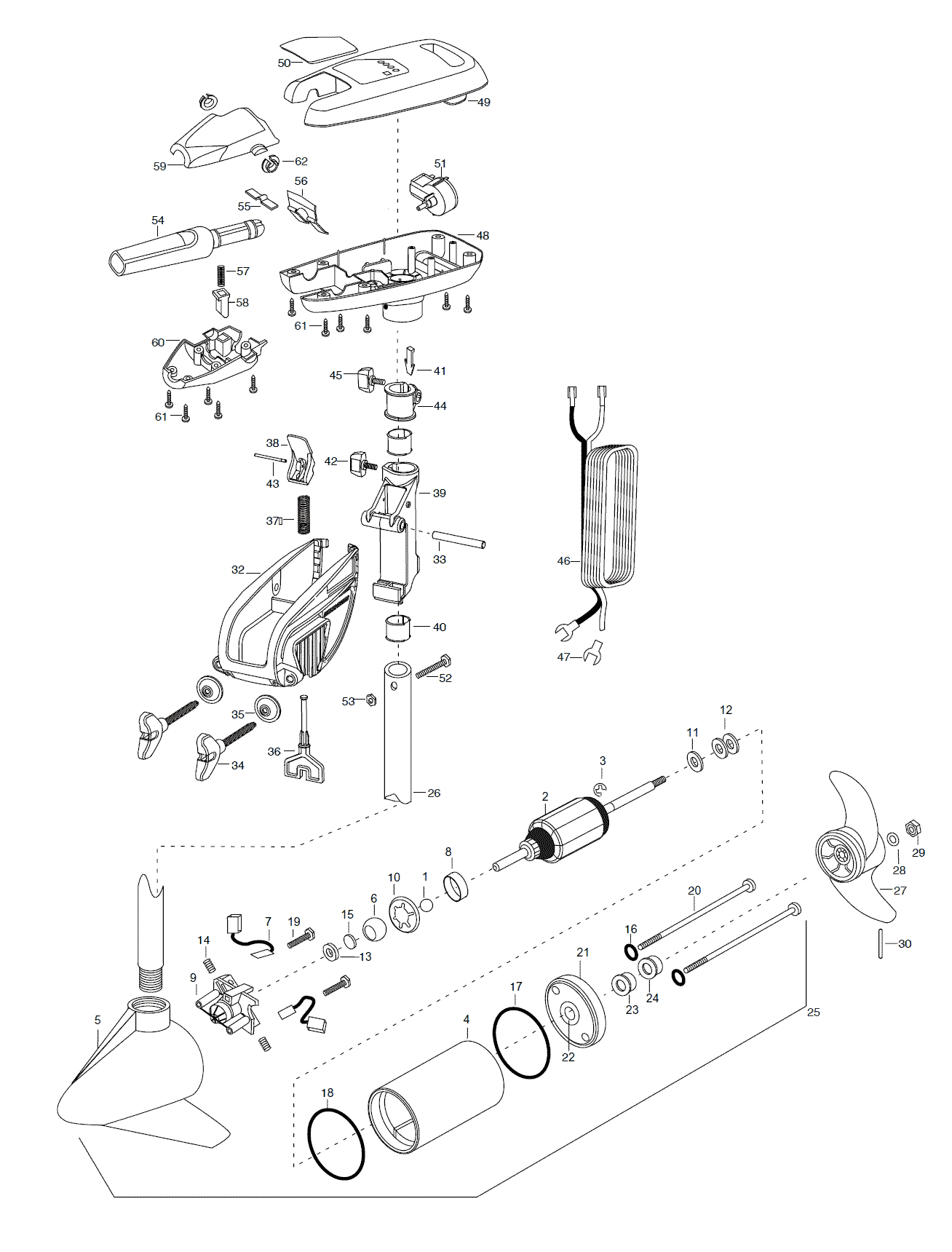 Minn Kota Turbo 65 Parts