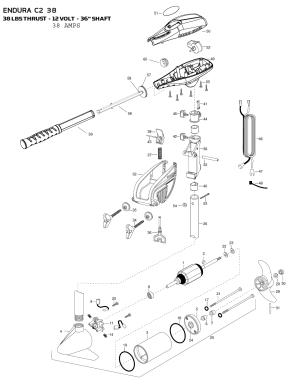 Minn Kota Endura C2 38 Parts  2015 from FISH307
