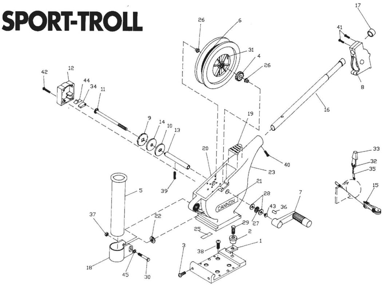 Order Cannon Sport Troll Parts Online At Fish307