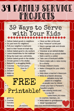 If you've got kids, then you know how real the struggle can be to get them to simply clean up after themselves. But what if we raised the bar even higher and taught them to serve others selflessly? What if we committed to raise a generation of kids who gave freely of themselves for the sake of others? Here are 39 easy service projects for kids. #familyserviceprojects