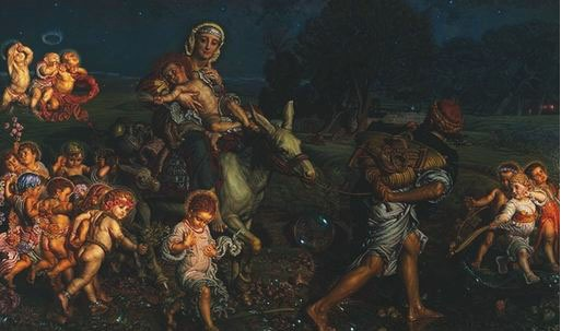 Triumph of the Innocents, by William Holman Hunt, 1883-4