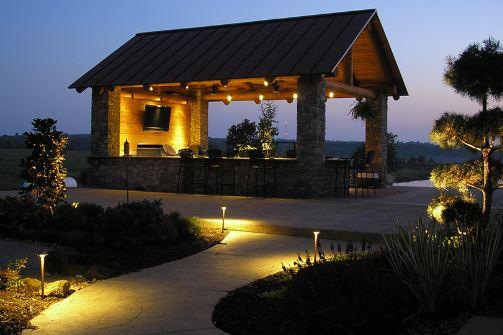 outdoor lighting design in fishers in