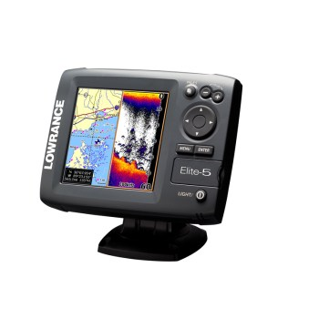 Lowrance elit-5 gps fish finder / depth finder