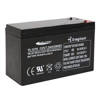 Enegitech 12V 7.2Ah Sealed Lead Acid SLA Rechargeable Emergency Lighting Battery with Faston Connector