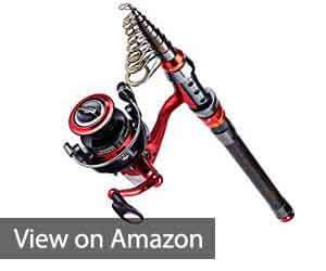 fiber telescopic poles and spinning reels Review, Fiber telescopic poles and spinning reels