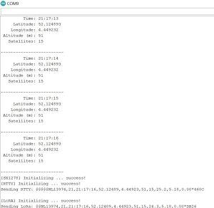 Arduino IDE console log