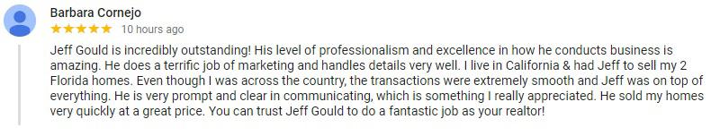 Jeff Gould - Realtor - Testimonial