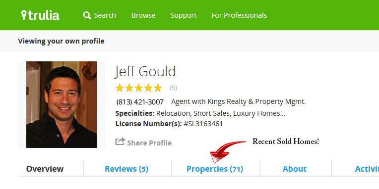 Jeff Gould Trulia Home Page, FishHawk Ranch Realtor