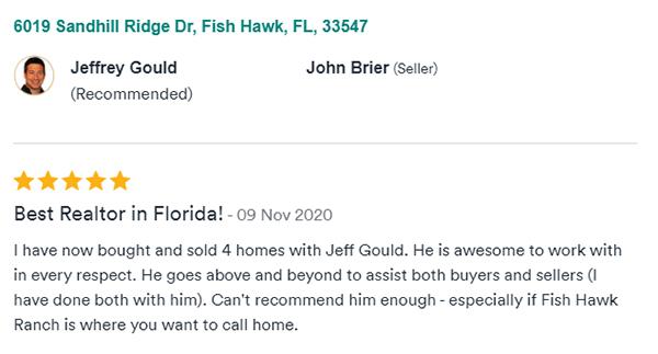 Testimonial for Realtor Jeff Gould by John B 11.9.2020