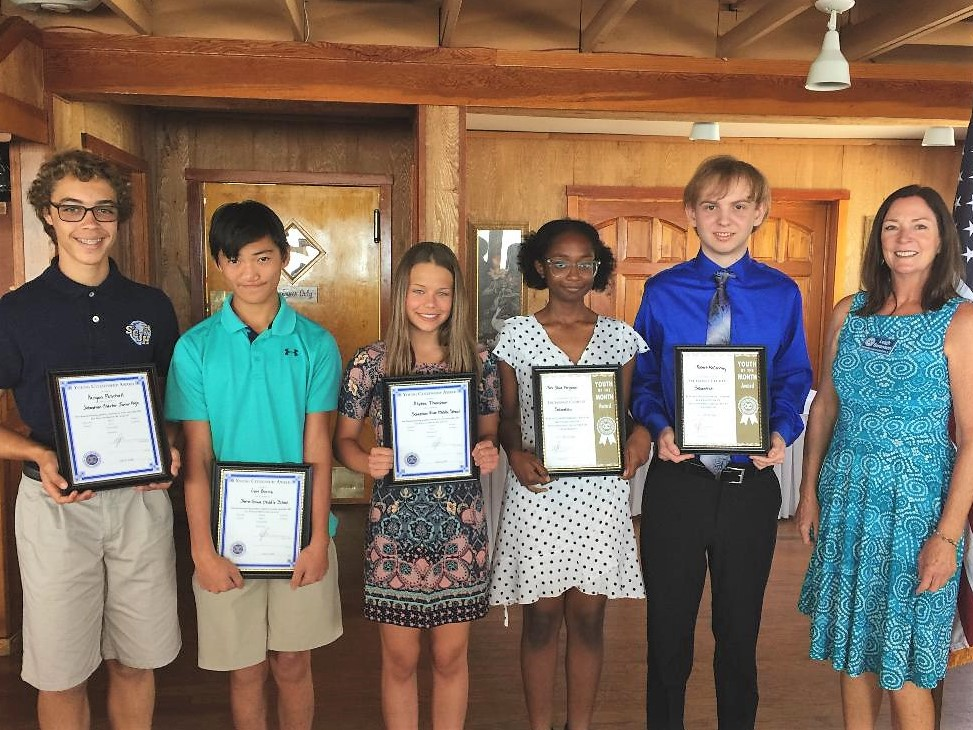 Exchange Sebastian, blue water open, students of the month,