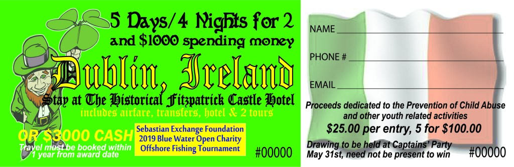 Blue water open fishing tournament June