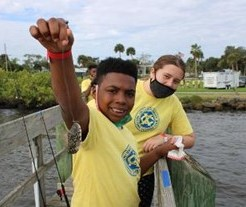 Blue Water Open Fishing tournament for kids, sponsored by Sebastian Exchange Club