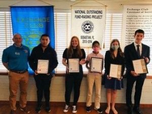 Exchange Club of Sebastian honors Students of the month