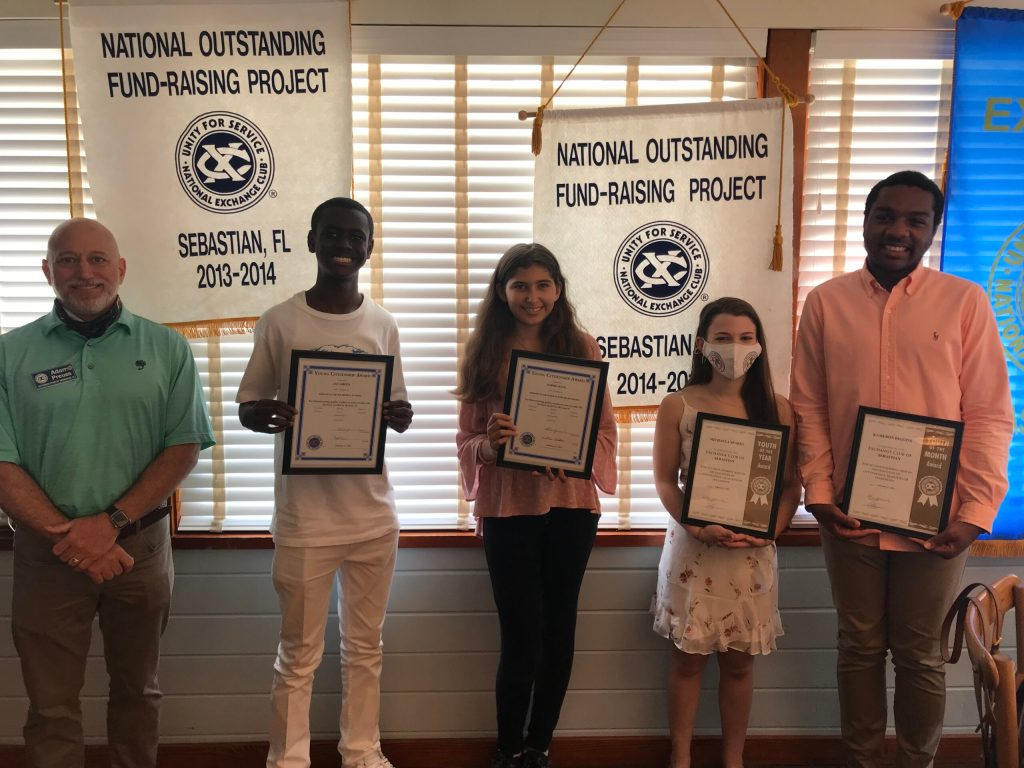 Feb 2021 Students of the month, Sebastian Exchange Club