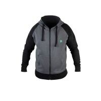 Felpa full Zip con cappuccio Grey Zip Hoodie PRESTON
