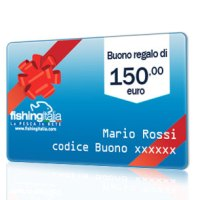 BUONO REGALO DEL VALORE DI 150,00 EURO  - FISHINGITALIA