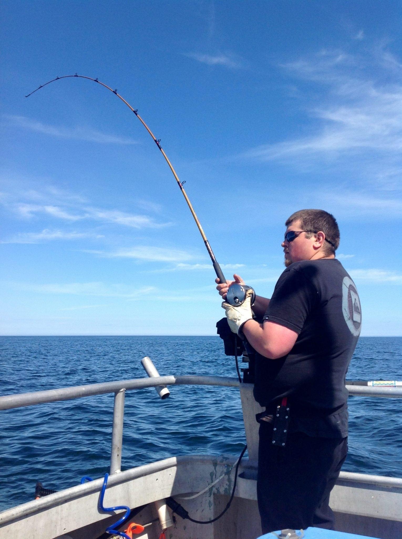 Wesley of Reelextreem Kodiak Salmon Fishing with Fish N' Chips Charters Kodiak Island Alaska