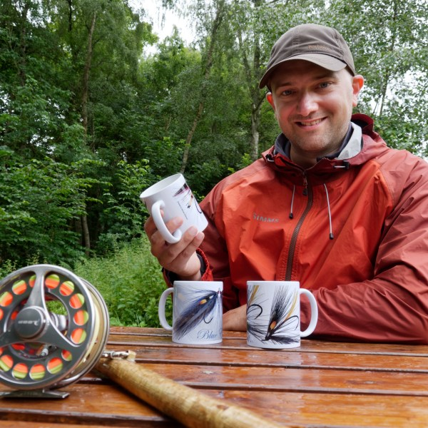 Michael Rollinson with his mugs