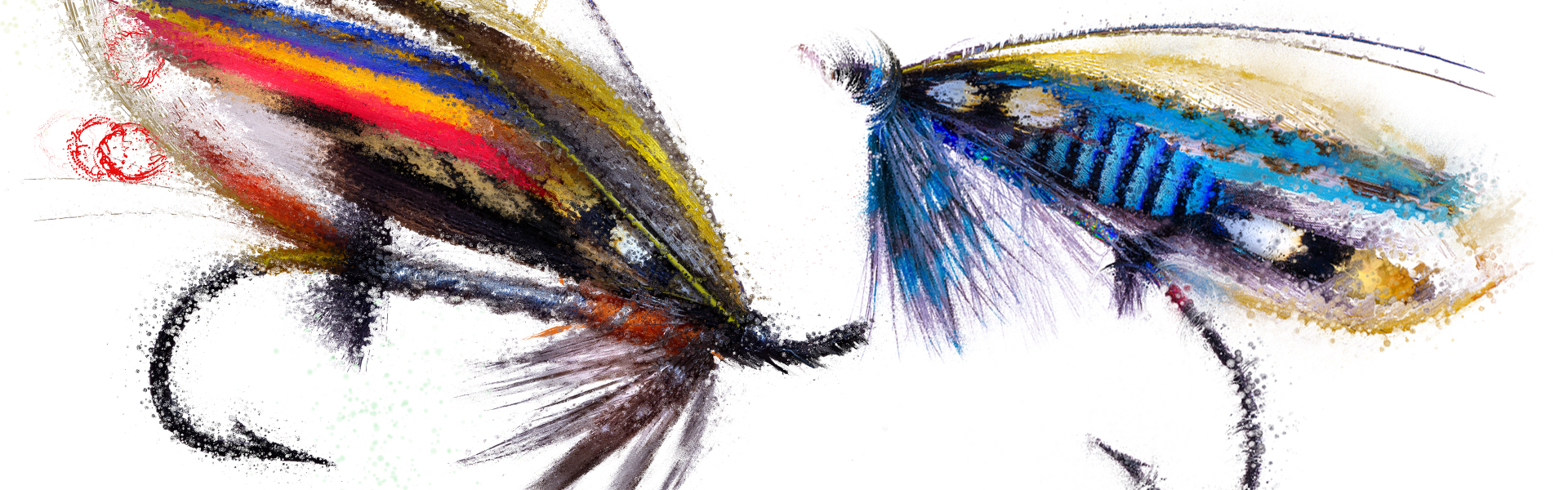 NHS Warrior and Dusty Miller fishing flies