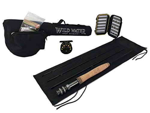 """Wild Water Fly Fishing Complete 3 Weight, 5'6"""" Rod and Reel Starter Package"""