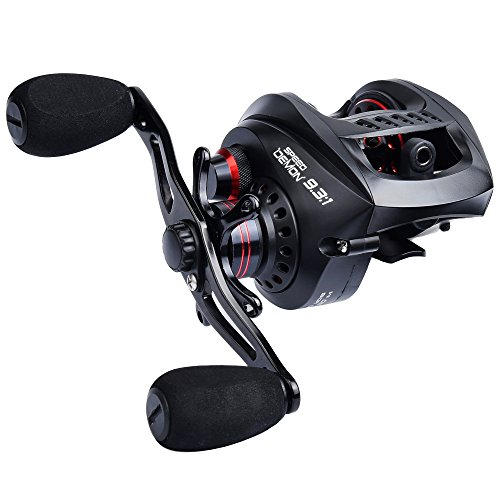KastKing Speed Demon 9.3:1 Baitcasting Fishing Reel - World's Fastest Baitcaster - 12+1 Shielded Ball Bearings - Carbon Fiber Drag - Affordable - New for 2017!