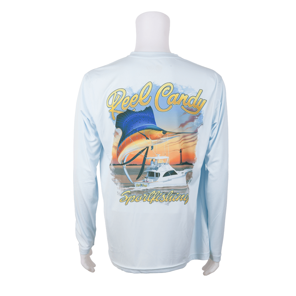 Custom Printed Dry Fit Shirts Long Sleeve Fishing Tournament Shirts
