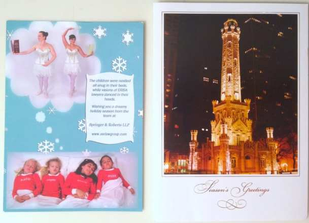 Two different holiday cards