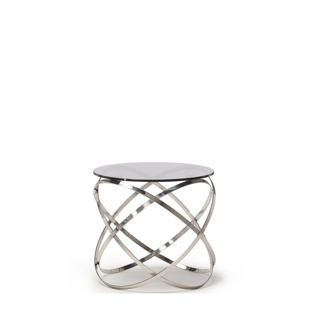 renata lamp table with grey glass top stainless steel base