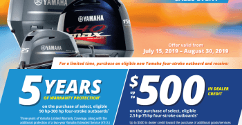 Yamaha Outboards Power The Summer Sales Event