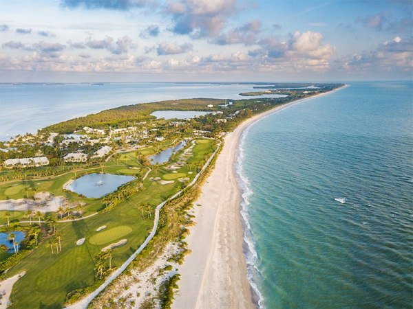 Aerial view of Captiva Beach