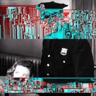 4.26 Hugh Manon, glitch noir series.