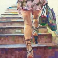 4.71 Enda O'Donoghue - Mistaking the Peplum (2009), olej na plátně