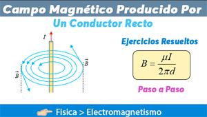 Campo Magnético producido por un conductor recto