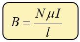 campo magnético por un solenoide
