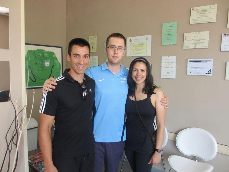 Miguel Angel con María e Ismael