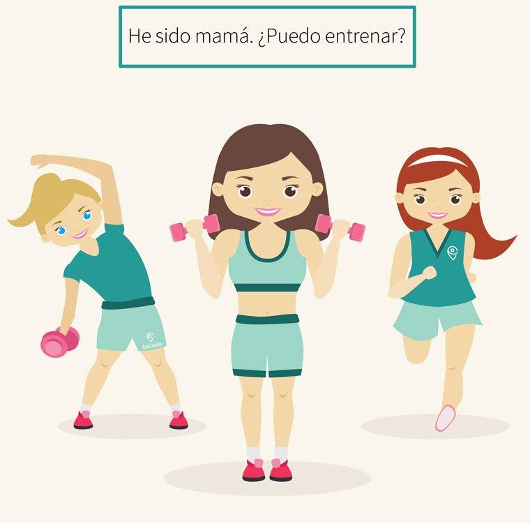 mama y ejercicio