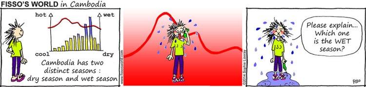 Fissos World in Cambodia cartoons dry wet seasons
