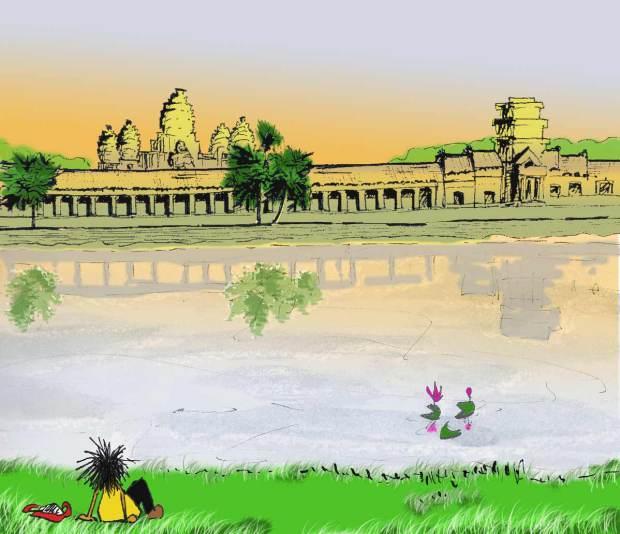 Wandering Angkor Temples Angkor Wat Sunset Moat Fissos World