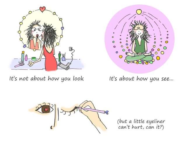 Cartoon words wisdom how you see Fissos World