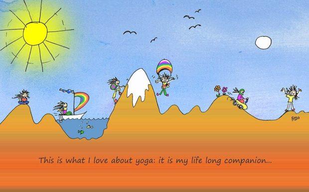 OM my Yoga Cartoon Story Fissos World On Yoga Journey 29