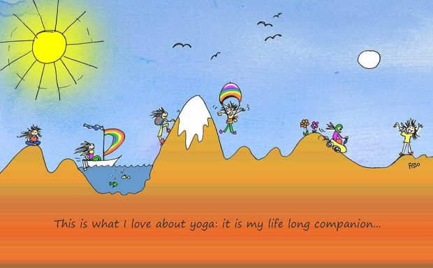 OM my Yoga Cartoon Story Fissos World On Yoga Journey 29