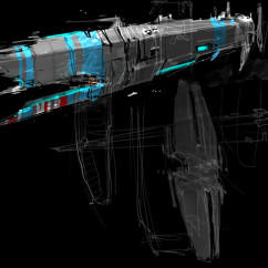 Homeworld 2 Concept Art - Rob Cunningham - Hiigaran Carrier Early Concept