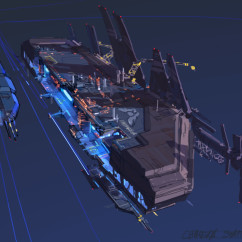 Homeworld 2 Concept Art - Rob Cunningham - Hiigaran Shipyard and Carrier
