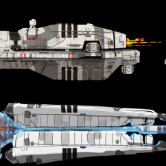 Homeworld 2 Concept Art - Rob Cunningham - Vaygr Torpedo Frigate