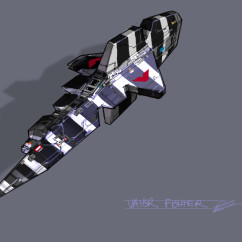 Homeworld 2Concept Art - Rob Cunningham - Vaygr Lance Fighter