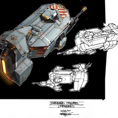 Homeworld Concept Art - Rob Cunningham - Kushan Assault Frigate
